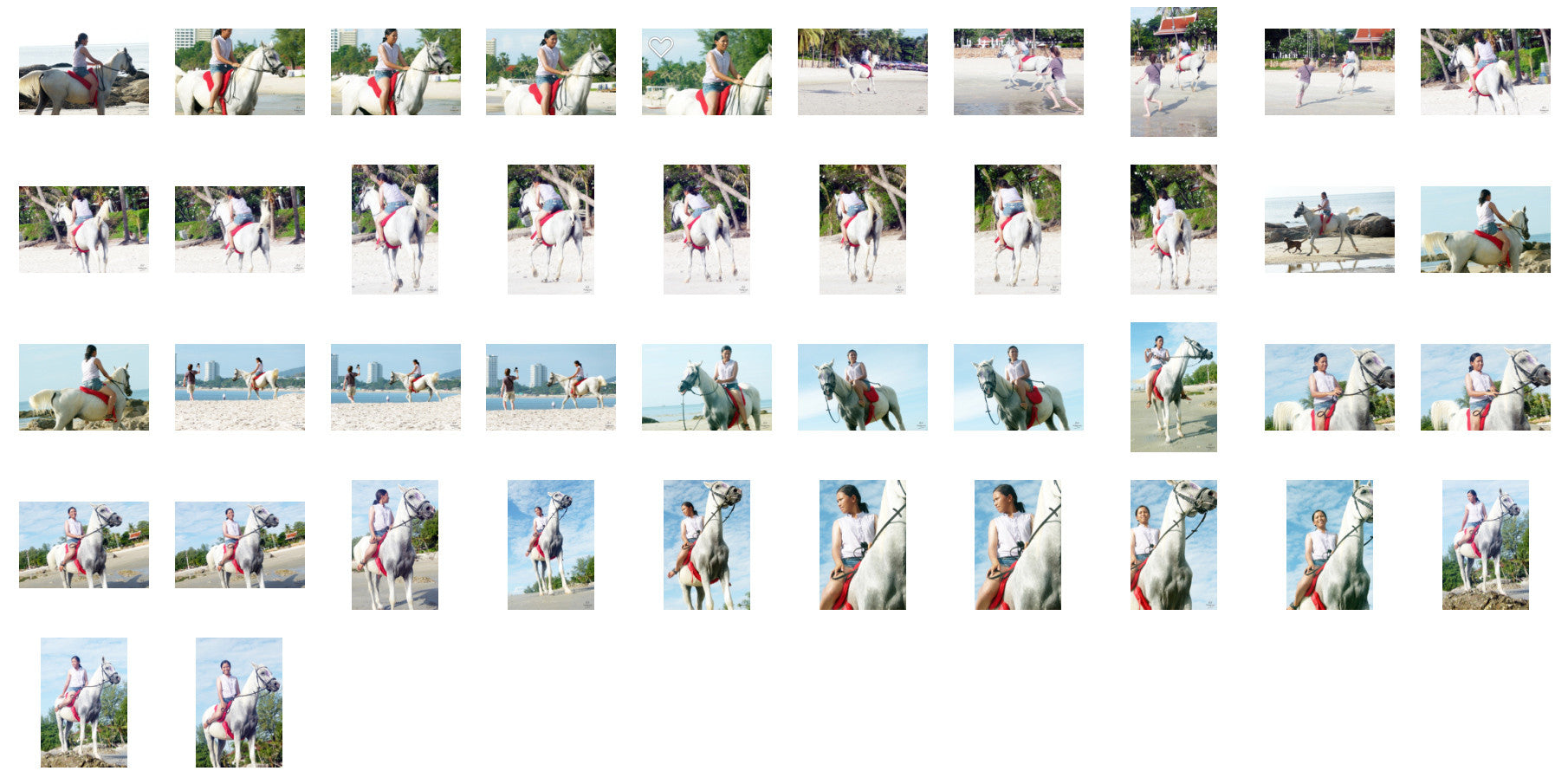 Nam in Hotpants Riding with Bareback Pad on White Arabian Horse, Part 4 - Riding.Vision