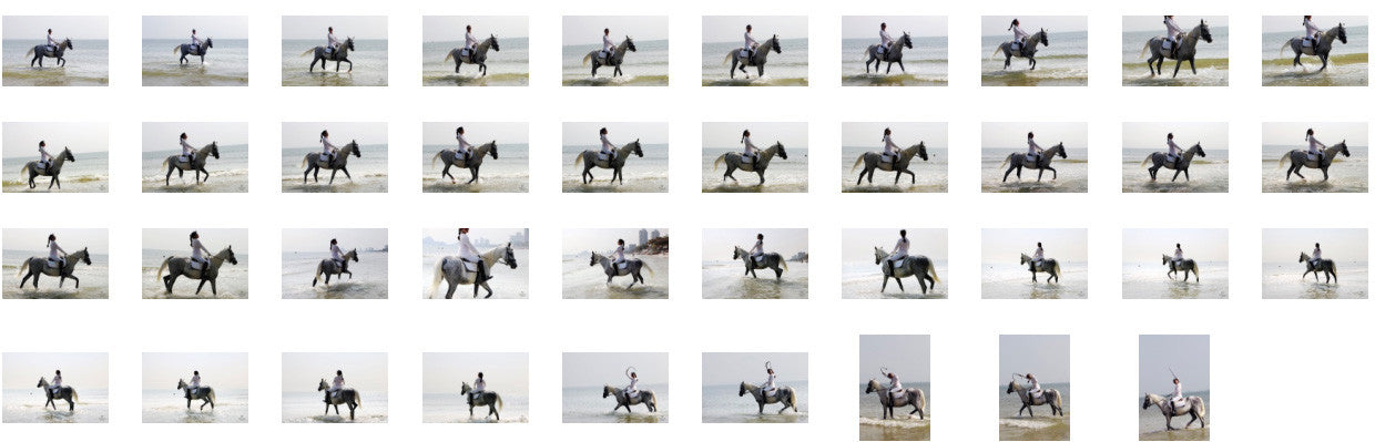 KaZaa in Ridingboots Riding with Saddle on White Arabian, Part 4 - Riding.Vision