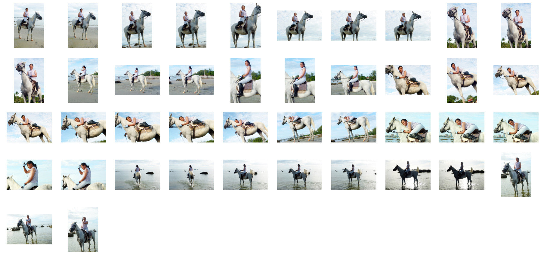 Nam in Jodhpurs Riding with Saddle on White Arabian Horse, Part 4 - Riding.Vision