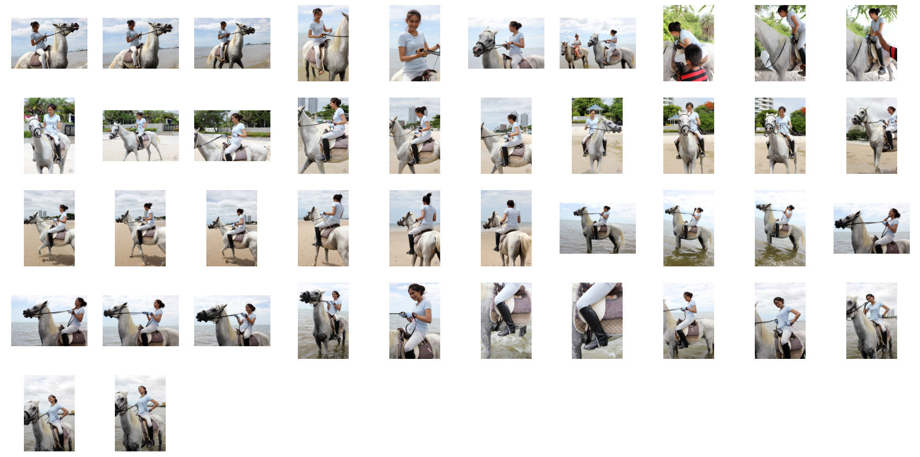 Som in Jodhpurs Riding with Saddle on White Arabian Horse, Part 4 - Riding.Vision