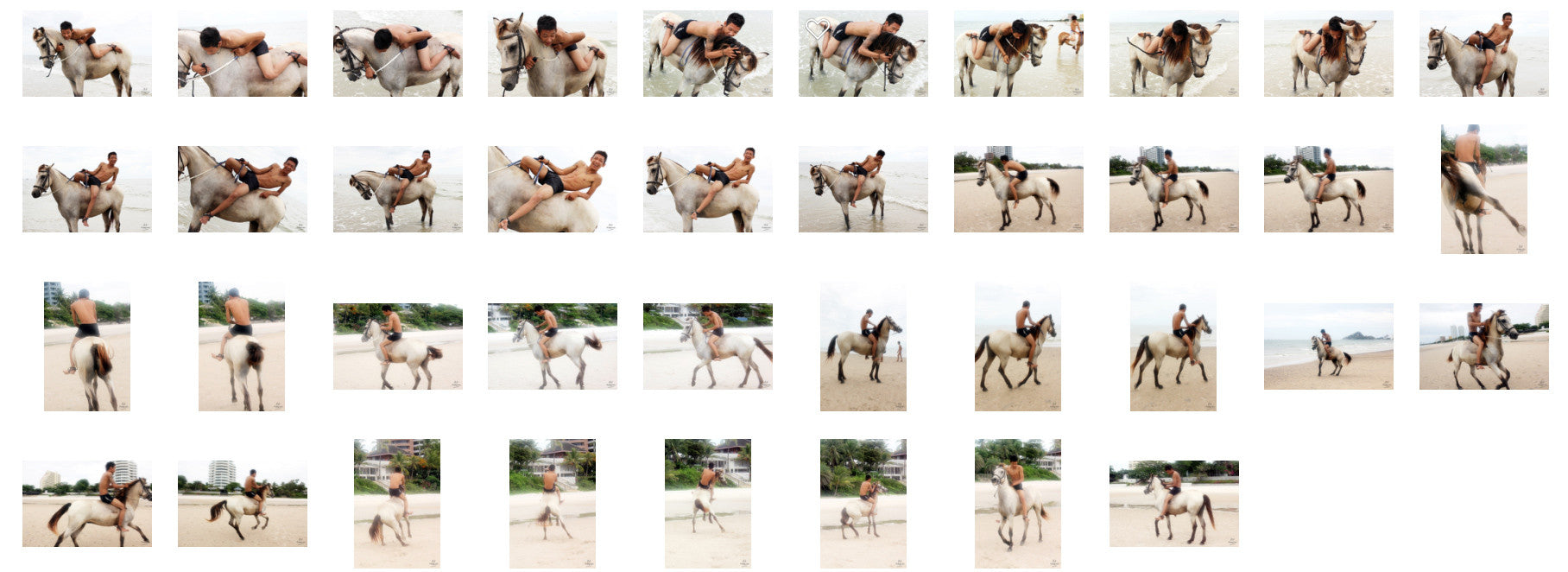 Thaksin in Black Spandex Riding Bareback on Buckskin Horse, Part 4 - Riding.Vision