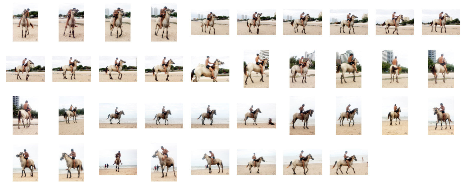 Thaksin in Black Spandex Riding Bareback on Buckskin Horse, Part 5 - Riding.Vision