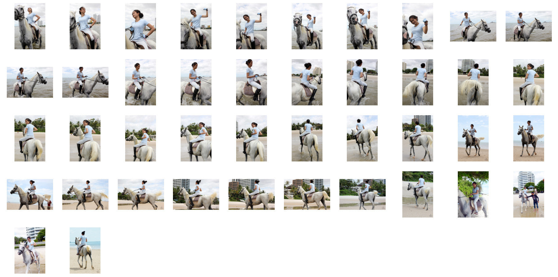 Som in Jodhpurs Riding with Saddle on White Arabian Horse, Part 5 - Riding.Vision