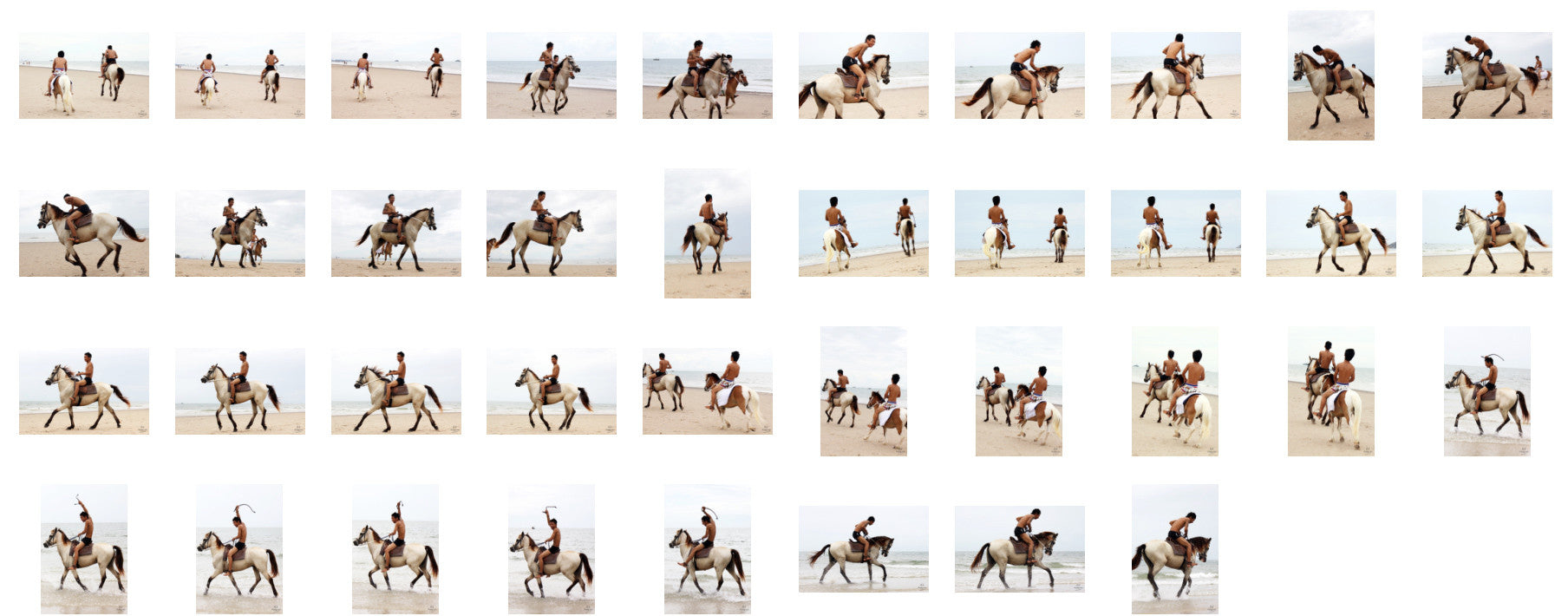 Thaksin in Black Spandex Riding with Saddle on Buckskin Horse, Part 5 - Riding.Vision