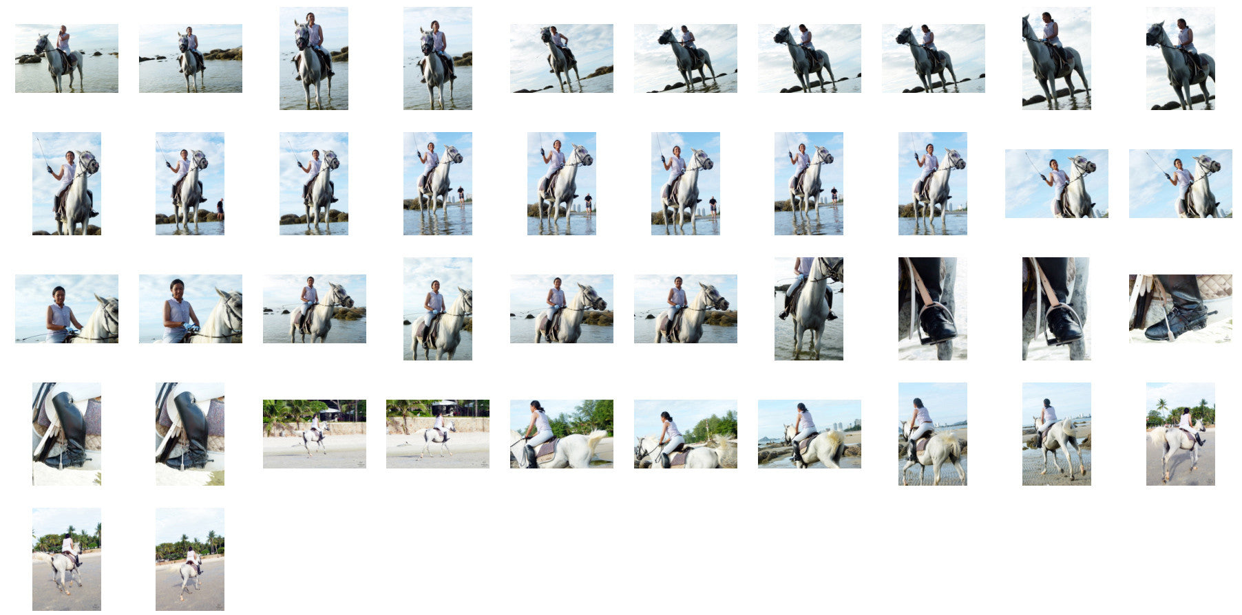 Nam in Jodhpurs Riding with Saddle on White Arabian Horse, Part 5 - Riding.Vision