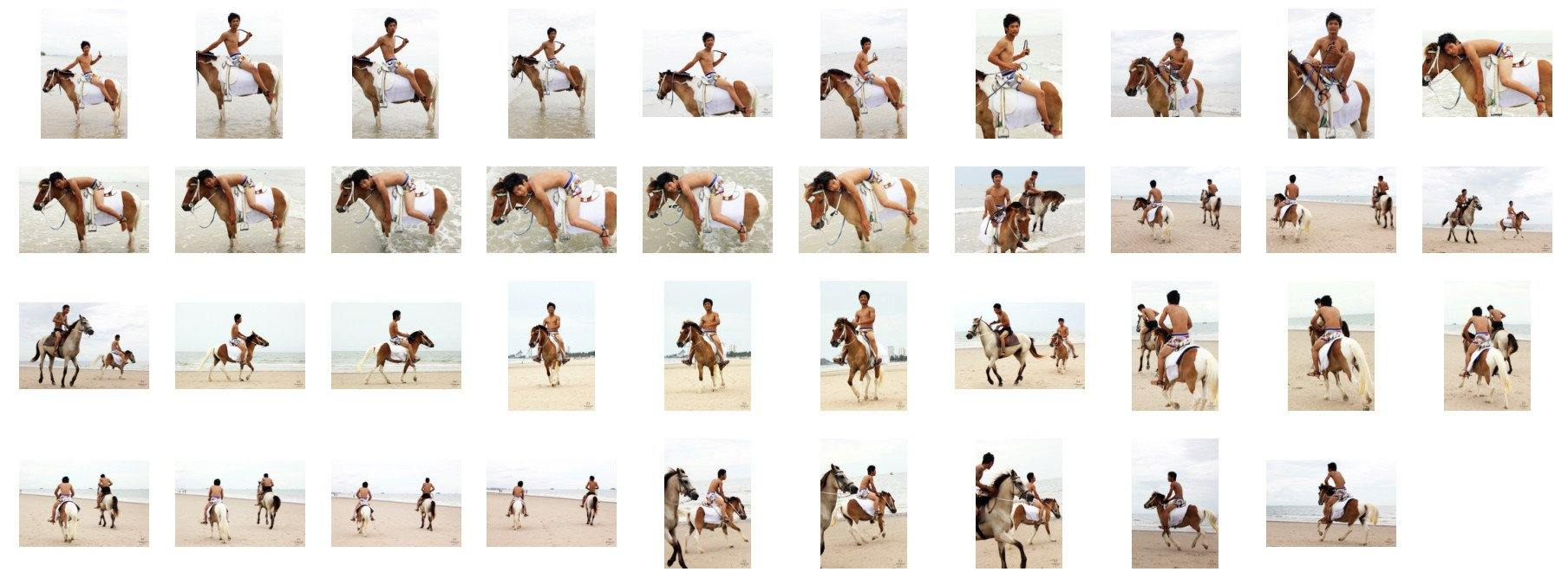 David in Funny Shorts Riding with Saddle on Brown-White Pony, Part 5 - Riding.Vision