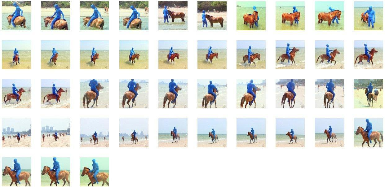Blue Zentai Riding Bareback on Golden Pony, Part 6 - Riding.Vision