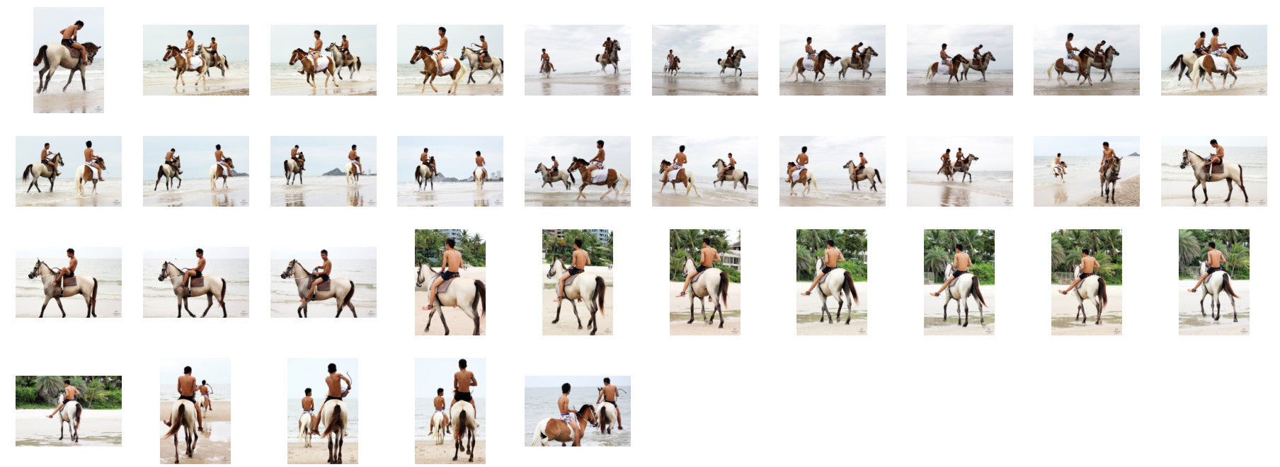 Thaksin in Black Spandex Riding with Saddle on Buckskin Horse, Part 6 - Riding.Vision