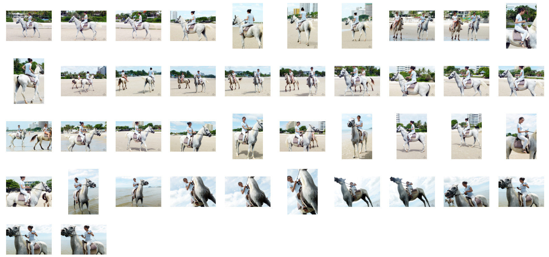 Som in Jodhpurs Riding with Saddle on White Arabian Horse, Part 6 - Riding.Vision