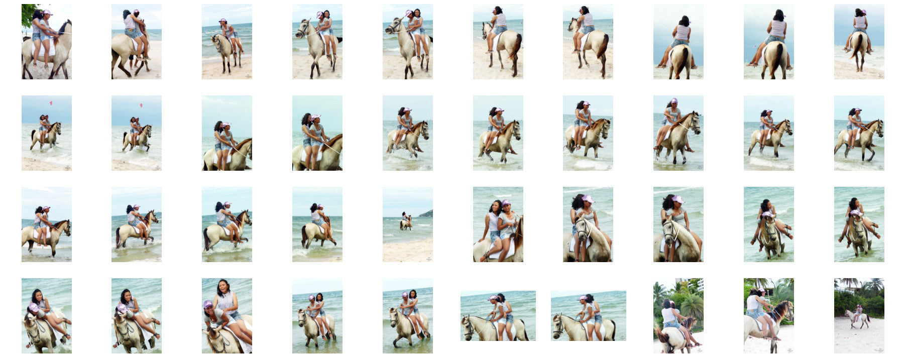 Nam and Titaporn Riding DOUBLE Bareback on Buckskin Horse, Part 7 - Riding.Vision