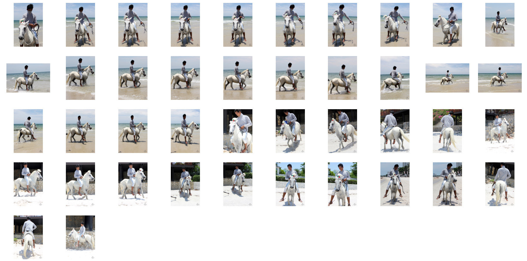 Leon in Silver Leggings and Netshirt Riding Bareback on White Pony, Part 7 - Riding.Vision
