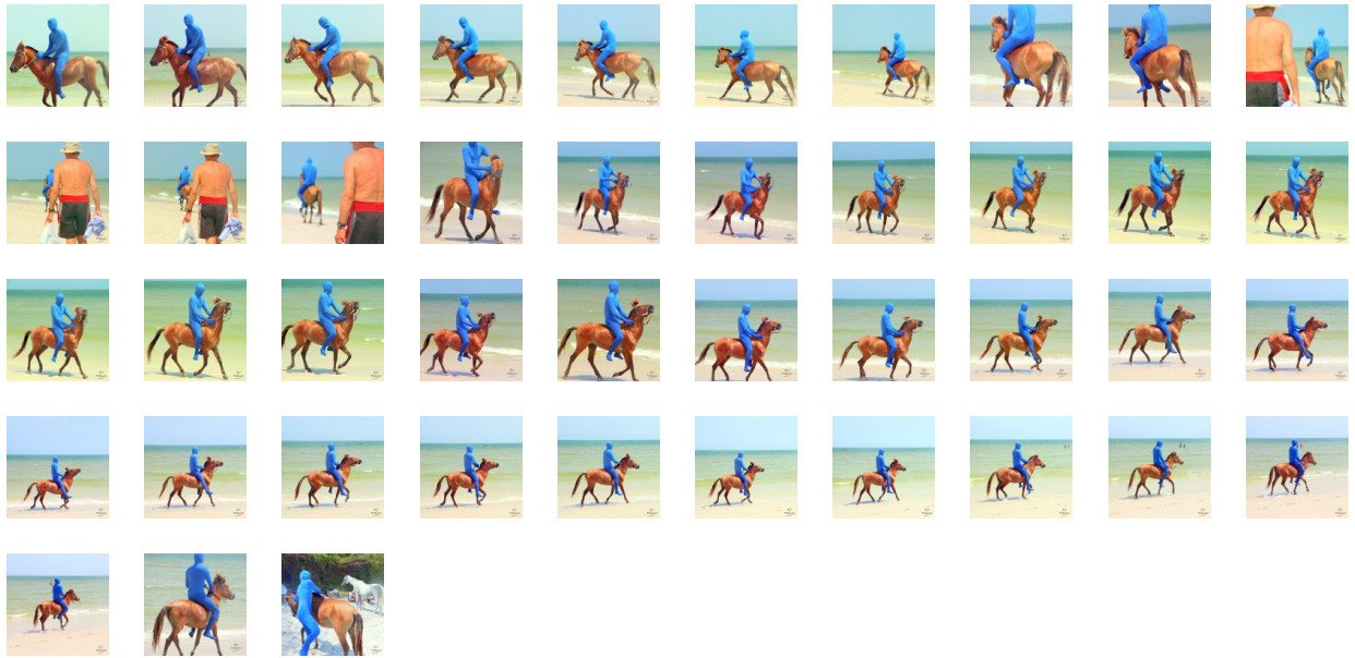 Blue Zentai Riding Bareback on Golden Pony, Part 7 - Riding.Vision