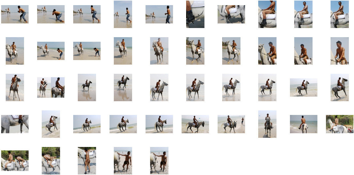 Kai in Brown Sprinter Shorts Riding with Saddle on White Arabian, Part 8 - Riding.Vision