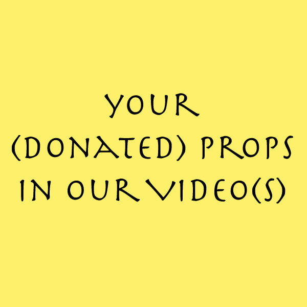 Your (donated) probs in our video(s)