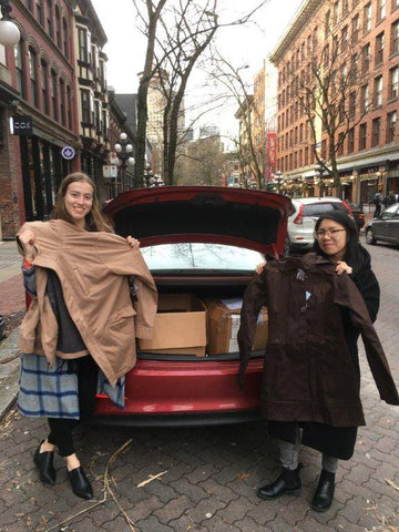 Mia Melon donated 100 coats to women's shelters in Vancouver