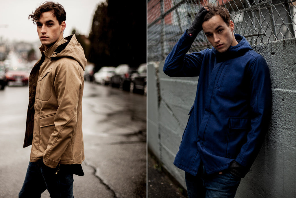 One Man Outerwear Commuter Jacket + One Man Outerwear Wanderer Jacket