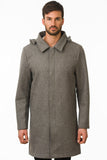 Grey Waterproof Wool Coat