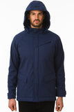 Navy Waterproof Cycling Commuter Jacket Hood