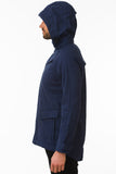 Navy Waterproof Cycling Commuter Jacket Side