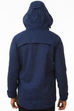 Navy Waterproof Cycling Commuter Jacket Back