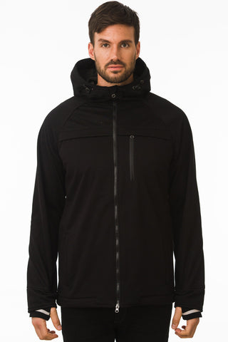 Black Waterproof Commuter Cycling Hoodie