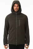 Grey Waterproof Commuter Cycling Hoodie