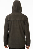 Grey Waterproof Commuter Cycling Hoodie Back