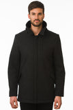 Black Modern Waterproof Coat