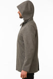 Grey Modern Waterproof Coat Side