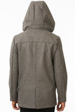 Grey Modern Waterproof Coat Back