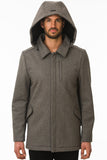 Grey Modern Waterproof Coat