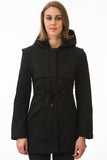 Short Black Modern Waterproof Trench