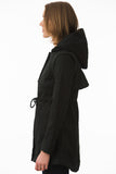 Short Black Modern Waterproof Trench Side