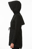 Short Black Modern Waterproof Trench Hood