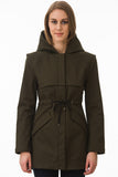 Short Olive Modern Waterproof Trench