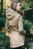 Short Tan Modern Waterproof Trench