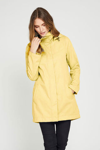 Stella Modern Light Weight Rain Shell Yellow