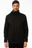 Black Modern Waterproof Field Jacket