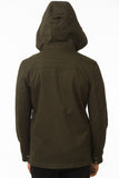 Olive Modern Waterproof Field Jacket Back