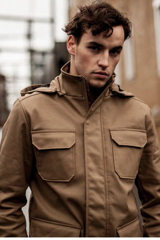 Tan Modern Waterproof Field Jacket