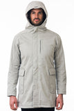 Taupe Modern Urban Waterproof Jacket Hood