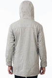 Taupe Modern Urban Waterproof Jacket Back