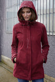 Trendy Dark Red Waterproof Jacket