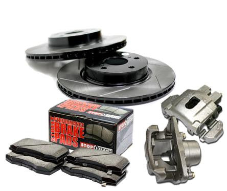 Team Integra Brake Upgrade Kit for Acura 1994-2001 with Stoptech Slotted Rotors and Brake Pads - Front - (2001 2000 1999 1998 1997 1996 1995 1994)