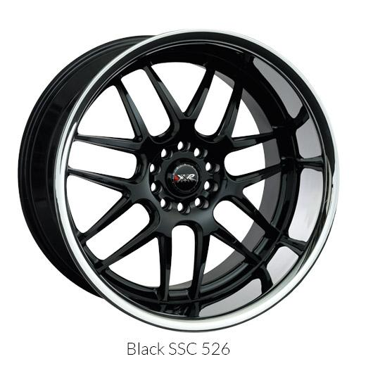 "XXR 526 Chrominum Black w/ Machined Lip Wheels for 1999-2004 LAND ROVER DISCOVER - 18x9 35 mm - 18"" - (2004 2003 2002 2001 2000 1999)"