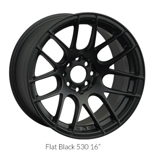 "XXR 530 Flat Black Wheels for 2004-2018 NISSAN QUEST - 17x7 35 mm - 17"" - (2018 2017 2016 2015 2014 2013 2012 2011 2010 2009 2008 2007 2006 2005 2004)"
