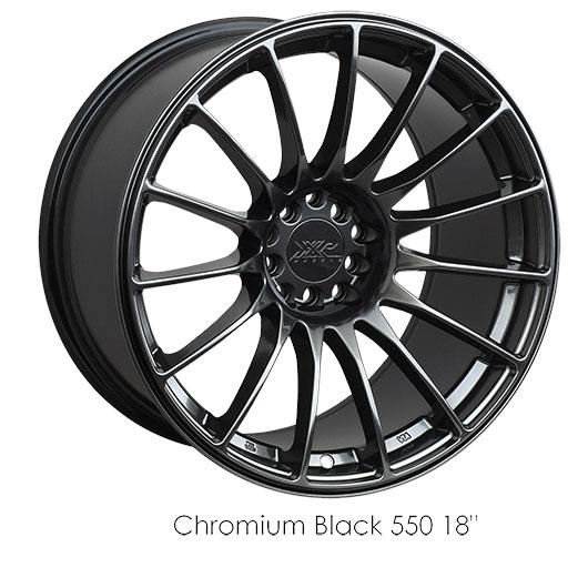 "XXR 550 Chromium Black Wheels for 1991-1996 DODGE STEALTH TURBO - 17x8.25 36 mm - 17"" - (1996 1995 1994 1993 1992 1991)"