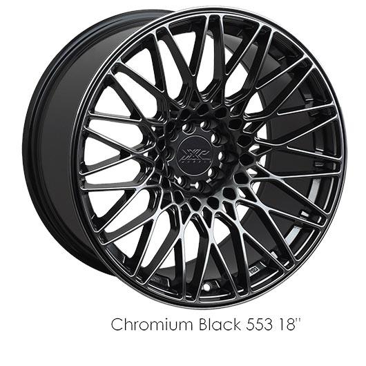 "XXR 553 Chromium Black Wheels for 2003-2018 LAND ROVER RANGE ROVER SUPERCHARGED - 20x9.25 36 mm - 20"" - (2018 2017 2016 2015 2014 2013 2012 2011 2010 2009 2008 2007 2006 2005 2004 2003)"