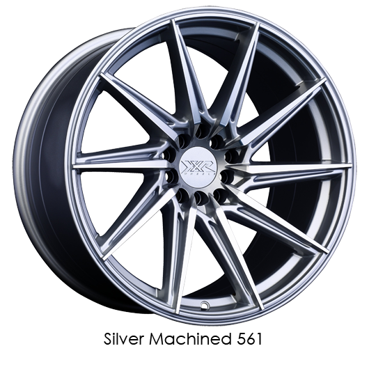 "XXR 561 Silver with Machined Face Wheels for 1990-1996 NISSAN 300ZX - 18x8.5 20 mm - 18"" - (1996 1995 1994 1993 1992 1991 1990)"