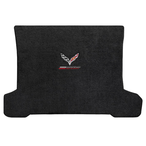 Lloyd Mat's CHEVROLET C7 CORVETTE 2014-2017 COUPE Trunk Floor Mats JET ULTIMAT GRAND SPORT LOGO + FLAGS DOUBLE LOGO - 600307 - (2017 2016 2015 2014)